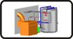 Дървен материал, Оборудване за отопление, Гориво за отопление: дърва, въглища, брикети, пилети и др.