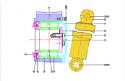 REMWN63.01Z13KN/D6.5KN Shock absorber (Replace Plasser WN63.01Z13KN/D6.5KN or E63.118)