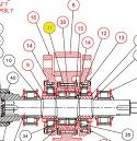 REM.2E22.07 (2E22.07) Space ring (Replace Plasser 2E22.07)