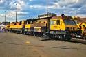 Loram SPML 16 жп шлифовъчен влак {1435 mm жп релсие} под Наем в Чехия (Европа)
