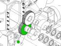 REM.GLF70.206 Зъбно колело (Заменя Plasser GLF70.206)