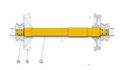 REM.UD62.3301-SP1524 Driving bogie axle (Replace Plasser UD62.3301-SP1524 and UD62.3301-SPUR1524)