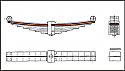 REM02.021.01-2 Lead Spring (2 leaf - 2ND Layers) Bogie WU 83 (DB BA 640 ff- P64 or H-665)